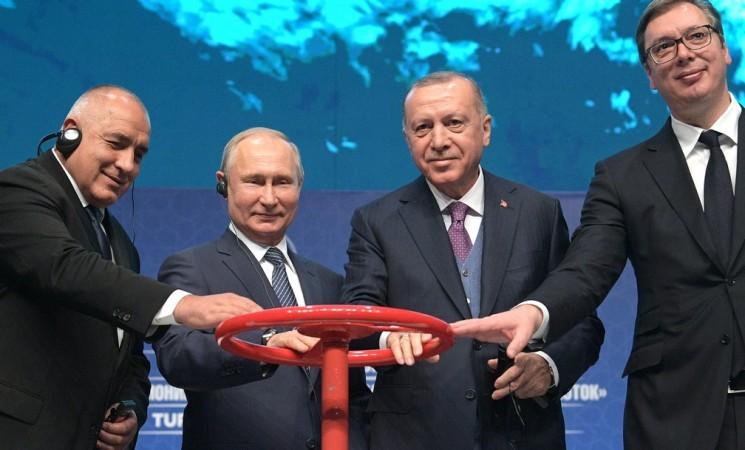 """Путин и Ердоган пуснаха """"Турски поток"""""""