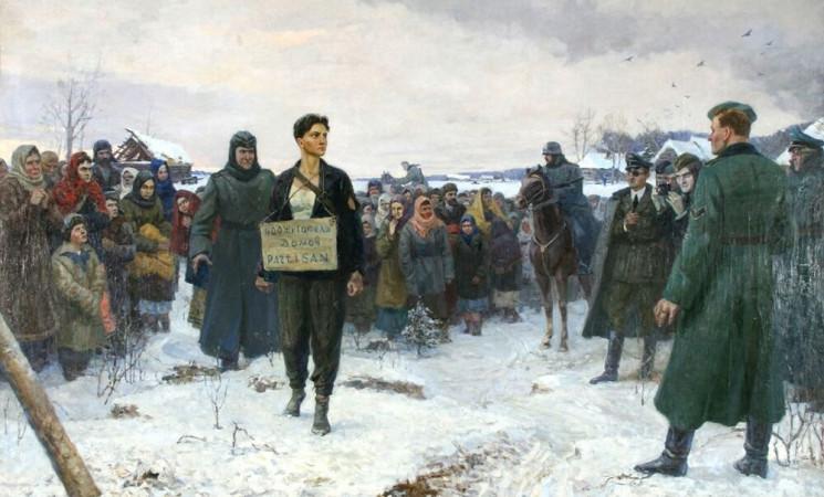 На 29 ноември 1941 г. нацистките изверги екзекутират съветската партизанка Зоя Космодемянская